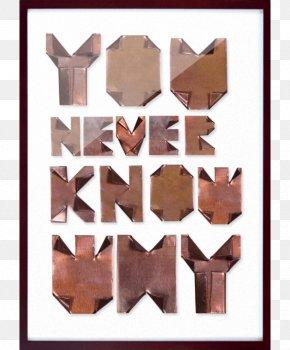 Realistic Copper Alphabet - Typeface Copper Metal Letter Font PNG