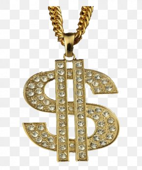 Thug Life Gold Chain Transparent Image - Gold Clip Art PNG