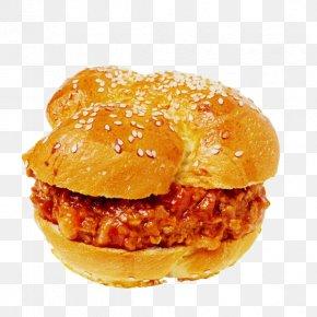 Chicken Burger - Hamburger Sloppy Joe Fast Food Cheeseburger Buffalo Burger PNG