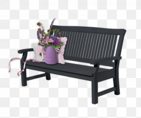 Flowers On A Black Chair - Summer Spring Bench Centerblog PNG