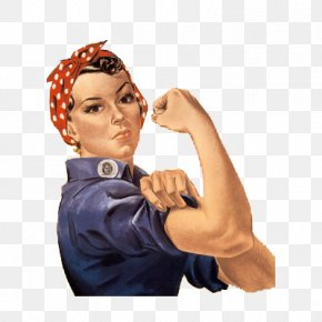 American Retro Women - Geraldine Doyle United States We Can Do It! Second World War Rosie The Riveter PNG