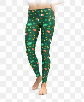 Patrick's Day - Leggings Saint Patrick's Day Shamrock Clothing Tights PNG