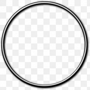 Silver Frame - Circle Gasket O-ring Curtain Hoop Rolling PNG
