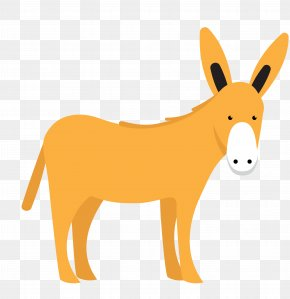 Vector Yellow Cute Little Donkey Animal - Euclidean Vector Donkey PNG