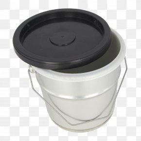 Plastic Paint Bucket Mockup - Plastic Lid Bucket Packaging And Labeling PNG