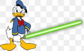 Donald Duck - Donald Duck Lightsaber Daffy Duck Clip Art PNG