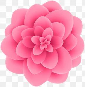 Deco Pink Flower Transparent Clip Art Image - Flower Violet Blue Clip Art PNG