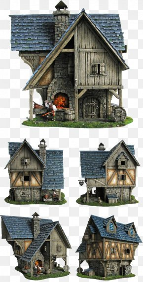 Retro House - Middle Ages House Forge Building Blacksmith PNG