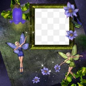 Purple Butterfly Elf Wall Border - Fairy Elf PNG