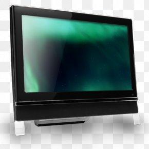 16 Computer Dark Green - Computer Monitor Desktop Computer Television Set PNG