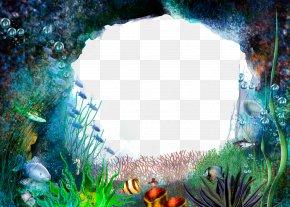 Frame Material Underwater World - Underwater PNG
