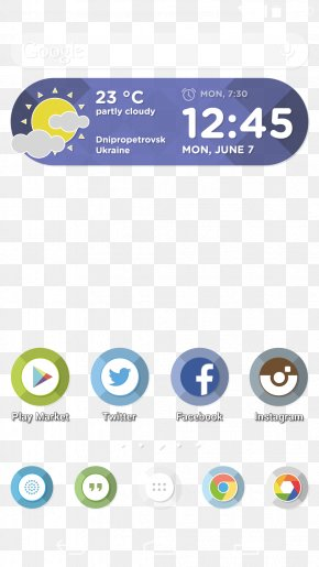 Android Launcher Theme - Android Smartphone Mobile App User Interface PNG