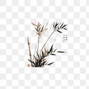 Chinese Ink Painting Style Bamboo Reported Safety - Bamboo Ink Wash Painting Chinese Painting Watercolor Painting PNG