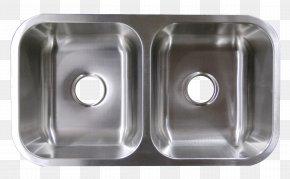 Sink - Kitchen Sink Plumbing Fixtures Stainless Steel Brushed Metal PNG