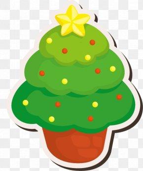 Hand-drawn Cartoon Christmas Tree Star Pattern - Christmas Tree Clip Art PNG