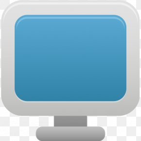 Monitor - Blue Computer Monitor Display Device Font PNG
