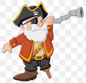 Watch Distant Pirate - Piracy Clip Art PNG