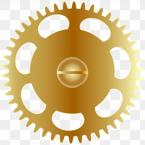 Gold Steampunk Gear Clip Art Image - The Bearings Bike Shop Beam Imagination Shopping Bicycle Shop PNG