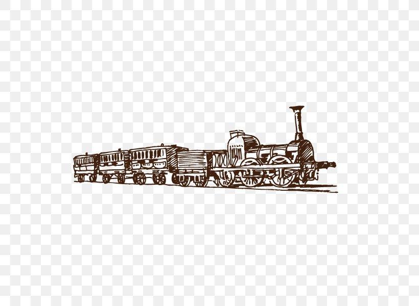 Train Steam Locomotive Rail Transport, PNG, 600x600px, Train, Brand, Drawing, Material, Metal Download Free