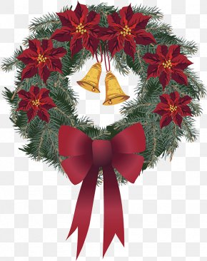 Christmas Wreath - Wreath Santa Claus Christmas Ornament PNG