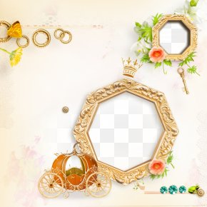 Gold Frame - Picture Frame Page Layout Clip Art PNG