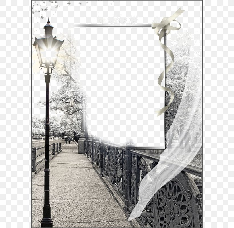 Street Light Picture Frame, PNG, 600x800px, Light, Black And White, Lighting, Monochrome, Monochrome Photography Download Free