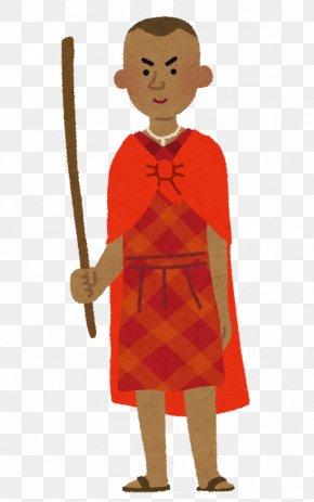 Vj - いらすとや Maasai People Cartoon PNG