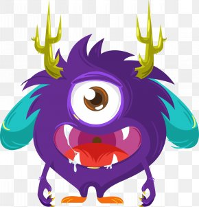 Cartoon Monster Vector - Monster Euclidean Vector Icon PNG