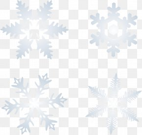 Winter Snow Snowflakes Vector - Blizzard Winter Snowflake PNG