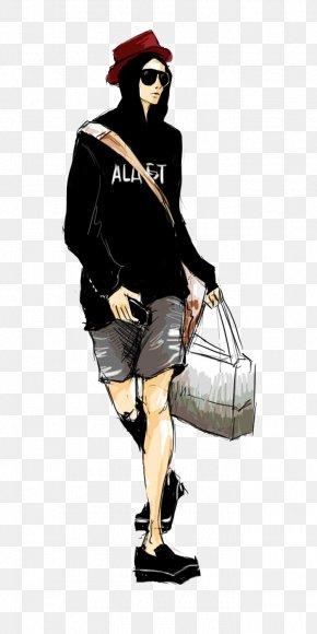 Casual Fashion Star Handsome Boy Illustration - T-shirt Designer Illustration PNG