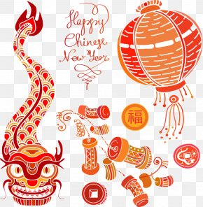 Dragon Chinese New Year Firecrackers - Chinese New Year Firecracker Chinese Zodiac PNG