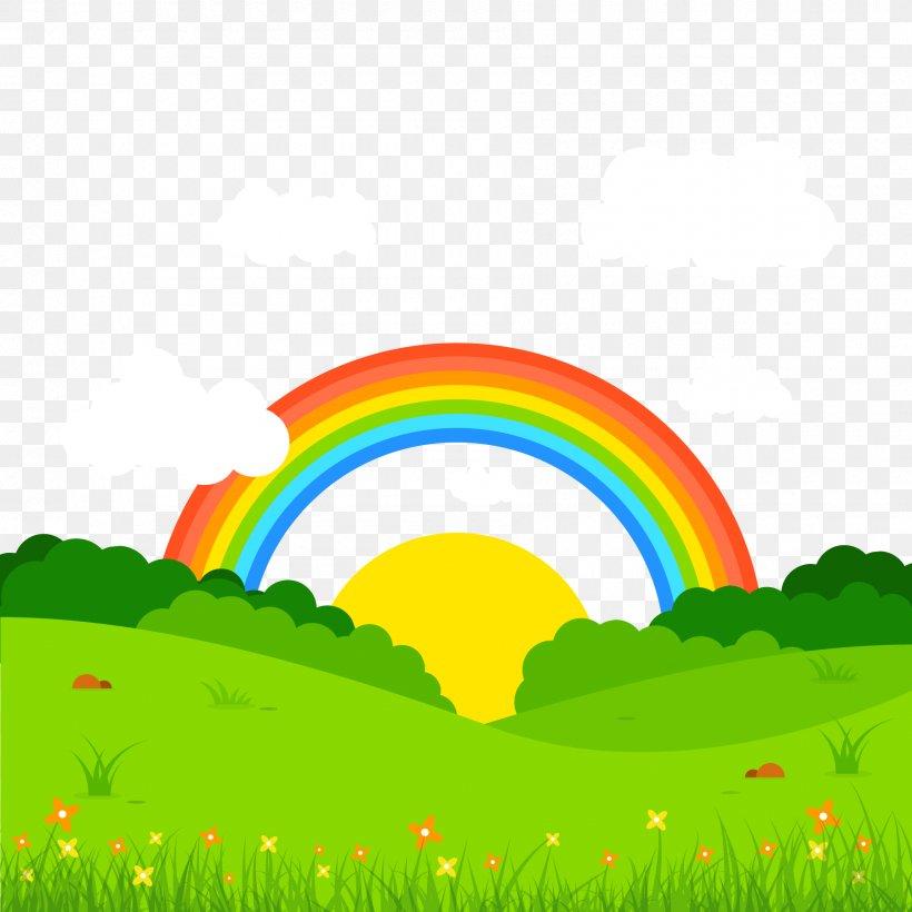 Landscape Book Of Optics Euclidean Vector Rainbow, PNG, 1800x1800px, Landscape, Art, Cartoon, Daytime, Drawing Download Free