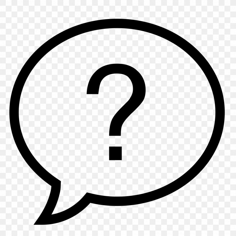 Icon, PNG, 1600x1600px, Question, Area, Black And White, Clip Art, Number Download Free