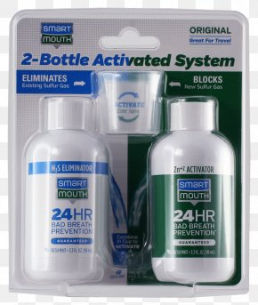 Bad Breath - Smartmouth Original Activated Mouthwash Bad Breath Xerostomia Toothpaste PNG