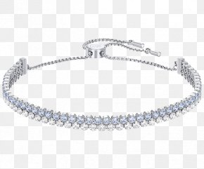 Swarovski Jewelry Blue Diamond Bracelet - Earring Bracelet Swarovski AG Gold Plating Jewellery PNG