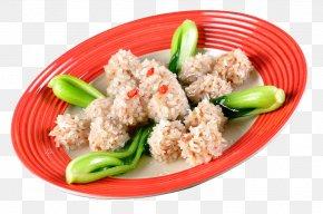Pearl Shrimp Meatballs - Meatball Soup Hot Pot Vegetarian Cuisine PNG