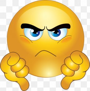 Grumpy Face Cliparts - Thumb Signal Smiley Emoticon Clip Art PNG