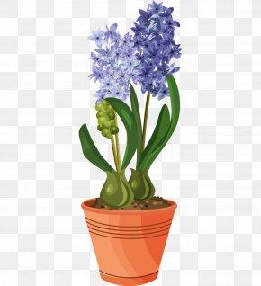 Vintage Floral Design - Flowering Pot Plants Vector Graphics Clip Art Tulip PNG