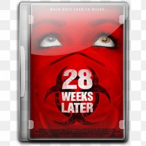 28 Weeks Later V3 - Electronic Device Technology Red Font PNG