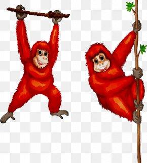 Orangutan Monkey Chimpanzee Gorilla Clip Art PNG