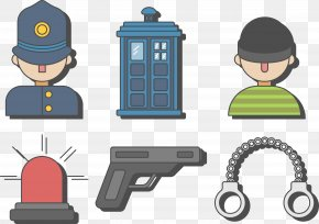 Police And Bandit Vector - Euclidean Vector Police Download PNG