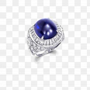 Cobochon Jewelry - Jewellery Sapphire Ring Gemstone Diamond PNG