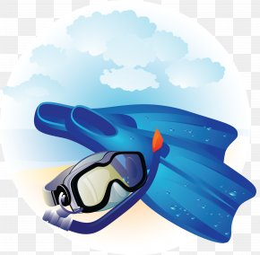 Flippers - Underwater Diving Diving & Snorkeling Masks Diving & Swimming Fins PNG