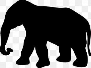 Elephant Stencil - Elephant Silhouette Clip Art PNG