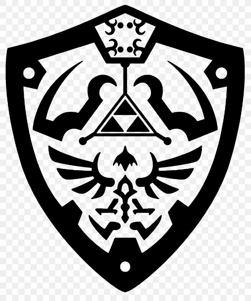 Shield Hylian Princess Zelda Art, PNG, 1600x1914px, Shield, Art, Black And White, Drawing, Emblem Download Free