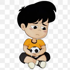 Mascot Toddler - Cartoon Animation Child Stuffed Toy Black Hair PNG