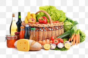 Shopping Basket Of Fruits And Vegetables - Grocery Store Health Food Supermarket Vegetarian Cuisine PNG