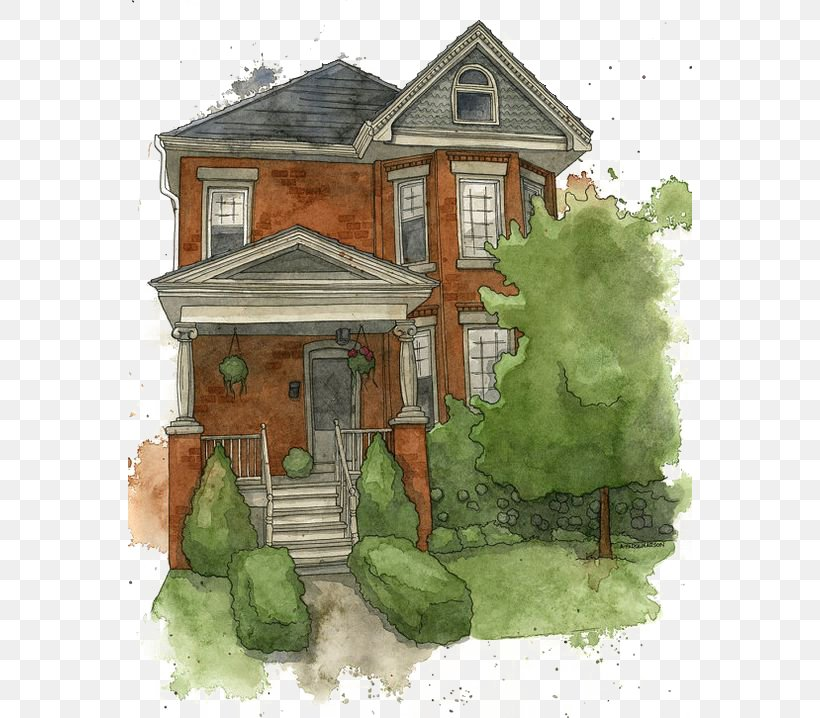 House Watercolor Painting Gratis Icon, PNG, 564x718px, House, Building, Cottage, Designer, Facade Download Free