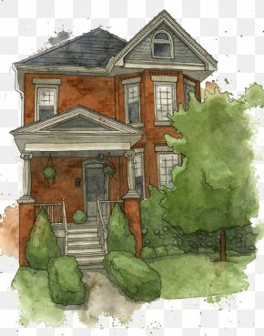 House - House Watercolor Painting Gratis Icon PNG