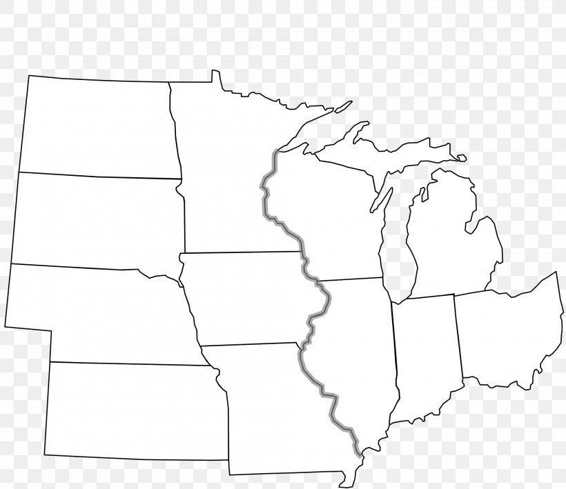 Midwestern United States Blank Map Northeastern United States Png 2000x1730px Midwestern United States Area Black Black